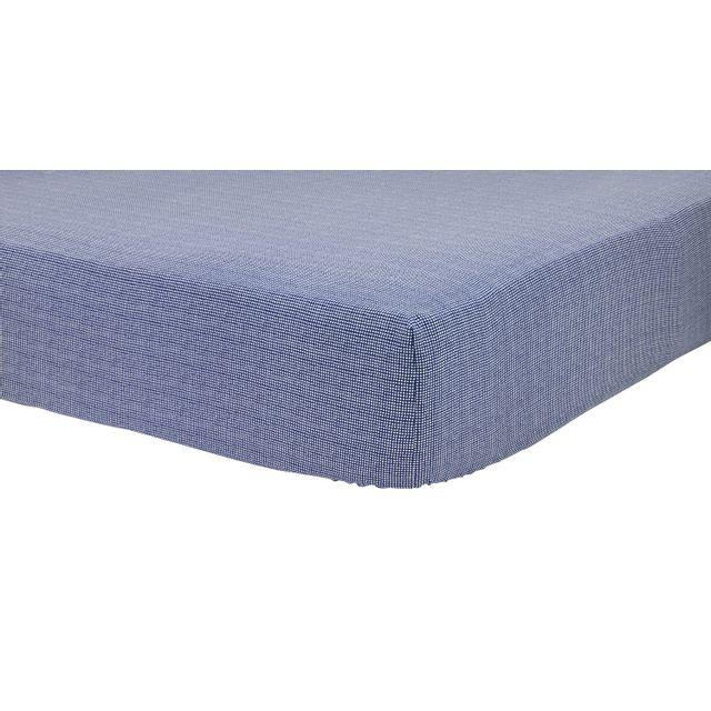 tex home drap housse mix and match en coton bleu fonc pas cher achat vente draps housses. Black Bedroom Furniture Sets. Home Design Ideas