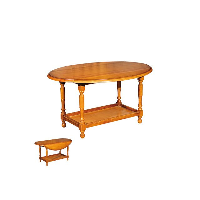 Table basse 2 abattants en merisier massif Achelet