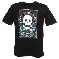 Quiksilver - Tee shirt manches courtes Danger beach black tee jr Noir 52668