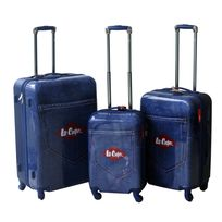 Lee Cooper - Set de 3 valises rigides Denim - Abs et polycarbonate - Bleu