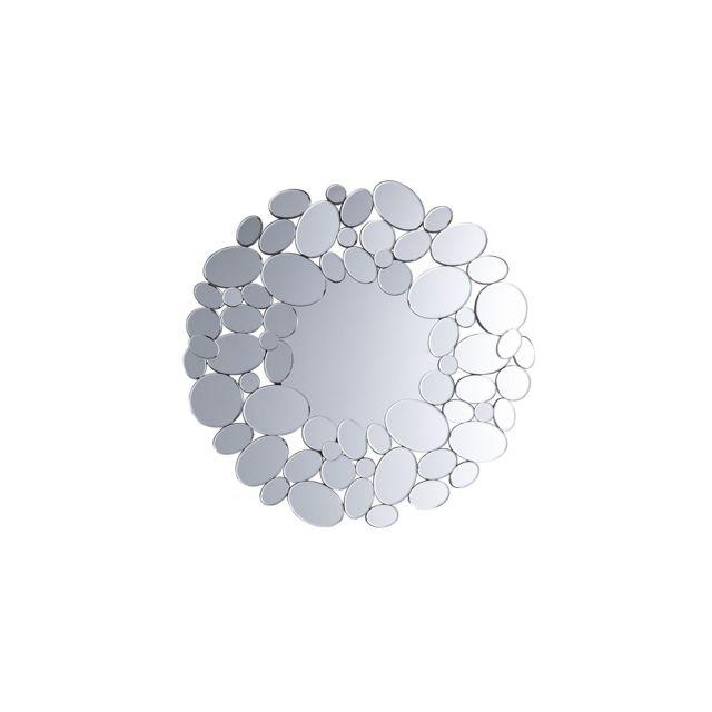 BELIANI Miroir rond argenté LIMOGES - argent