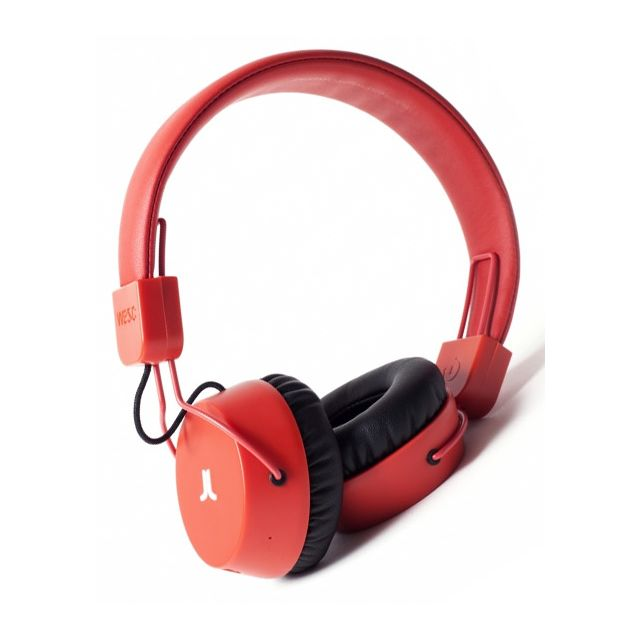Wesc Casque Audio Piston Bluetooth Bright Red En Soldes Pas Cher
