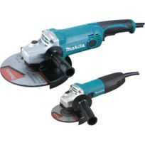 Makita - Pack 2 machines Meuleuse ø125mm 720W + Meuleuse ø230mm 2000W DK0057