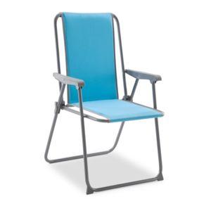 Carrefour chaise picolo dossier haut tissu polycoton bleu pas cher achat vente si ge - Chaise de camping pliante carrefour ...