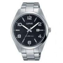Lorus - Montre Homme modèle Classique Noire et Argentée - Rh959GX9 - cadeau idéal