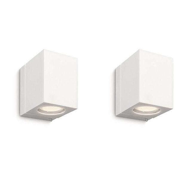 Philips Pack de 2 Luminaire Applique murale cubique Ecomoods - 332183116