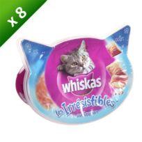 Whiskas - Les Irrésistibles au saumon pour chat 60g -8
