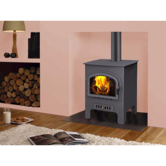 theca oslo po le bois en t le d 39 acier et fonte 12 5 kw. Black Bedroom Furniture Sets. Home Design Ideas