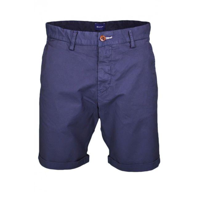 Gant - Bermuda bleu marine pour homme - pas