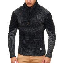 Violento - Pull fashion pour homme Pull 554 noir