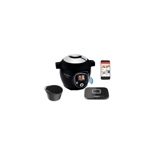 MOULINEX CE859800 Multicuiseur intelligent COOKEO + Connect avec Balance et Moule de cuisson inclus - 6L - 200 recettes - Noir
