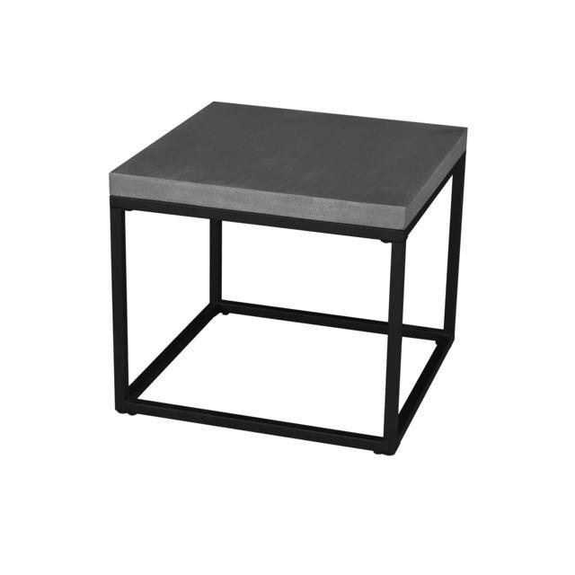 eeb965e97cb Rendez vous déco - Table basse cube Mahina 50 cm - pas cher Achat ...