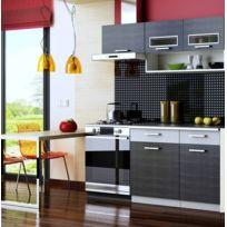 baltic meubles cuisine topaze 1m60 4 meubles en 4 coloris noir chin