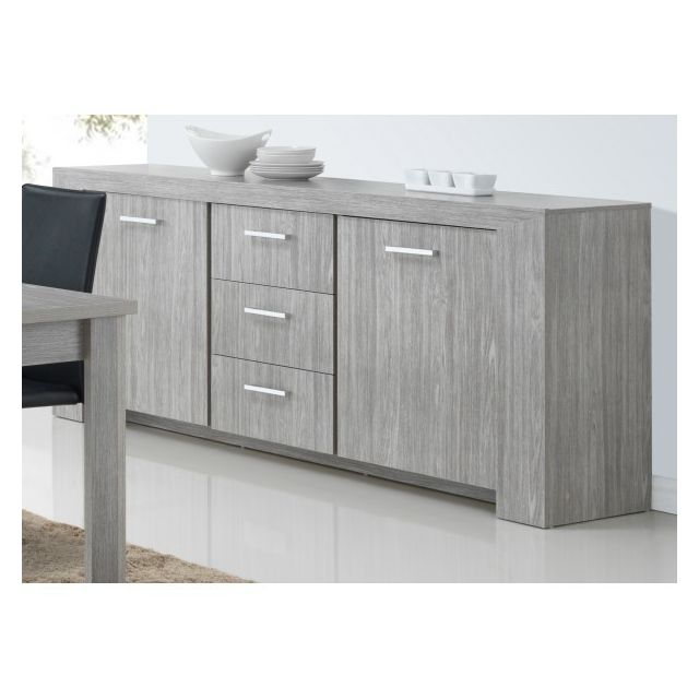 Meubles Thiry Buffet Bahut Contemporain 220 Cm Lord Pas Cher
