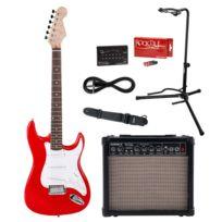Rocktile - Sphere Classic Guitare Électrique Rouge + École de Guitare