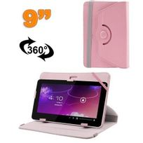 Yonis - Housse universelle tablette 9 pouces protection support 360° Rose