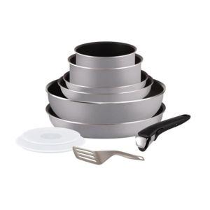Tefal - Ingenio Essential Batterie de cuisine 10 pieces 16-18-20-22-26cm tous feux sauf induction