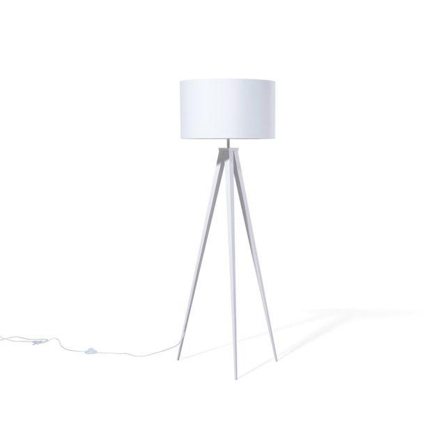 BELIANI - Lampadaire design - luminaire - lampe de salon - blanc - Stiletto 62cm x 156cm x 62cm