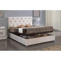 lit coffre 120 x 190 achat lit coffre 120 x 190 pas cher soldes rueducommerce. Black Bedroom Furniture Sets. Home Design Ideas
