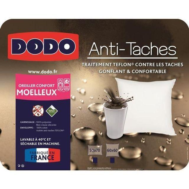 Dodo Oreiller Teflon 60x60 Cm Blanc Pas Cher Achat Vente