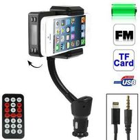 Yonis - Transmetteur Fm iPhone 5 kit mains libres support voiture Micro Sd