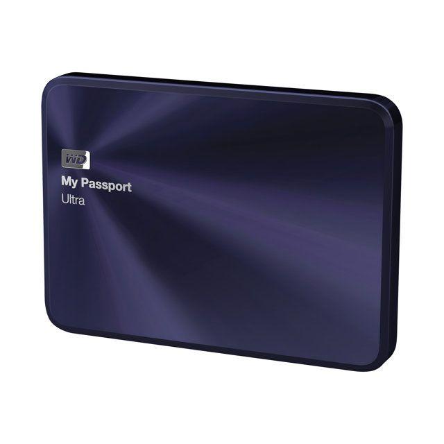 Western Digital - Wd My Passport Ultra Metal Edition Wdbezw0020BBA - Disque dur - chiffré - 2 To - externe portable Usb 3.0 - bleu-noir