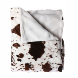 Atmosphera - Plaid 130 x 160 cm Vache Blanc