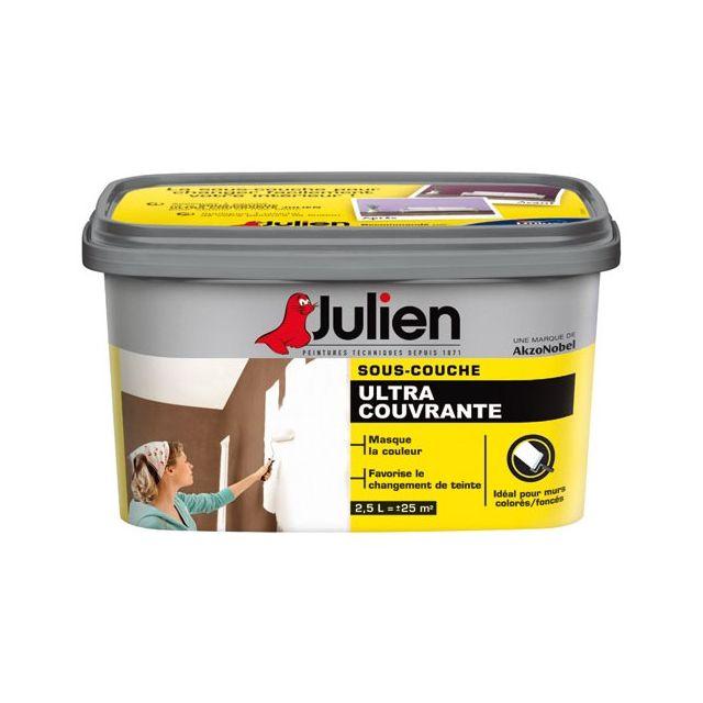 Julien - Peinture Sous Couche Ultra Couvrante 2.5 L - Pas Cher Achat