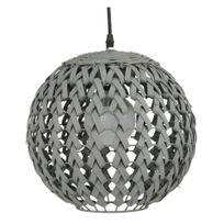 Suspension Yazu en bambou gris 30 cm de diamètre