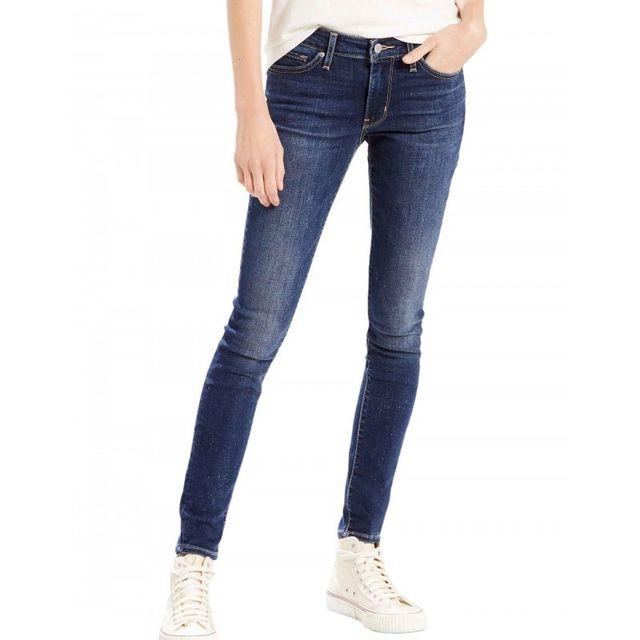 Levi S - Jeans 711 Skinny Long Way Blues Bleu - pas cher Achat   Vente Jeans  femme - RueDuCommerce 546e5064e393