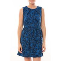 Vero moda - Robe Noel Sl Mini Dress Mix Wall 10087646 Bleu