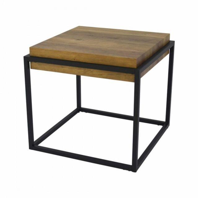 Zoli99 Table basse cubique de style industriel