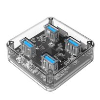 Wewoo - Hub Usb 3.0 transparent Usb 3.0 bureau avec câble micro Usb de 100 cm