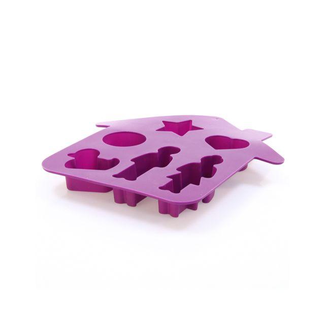 B&W Moule fantaisie Maison - Silicone - Violet