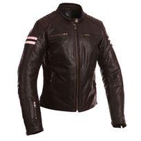 Segura - blouson moto cuir femme Lady Retro vintage toutes saisons marron rose Scb936 T5 46
