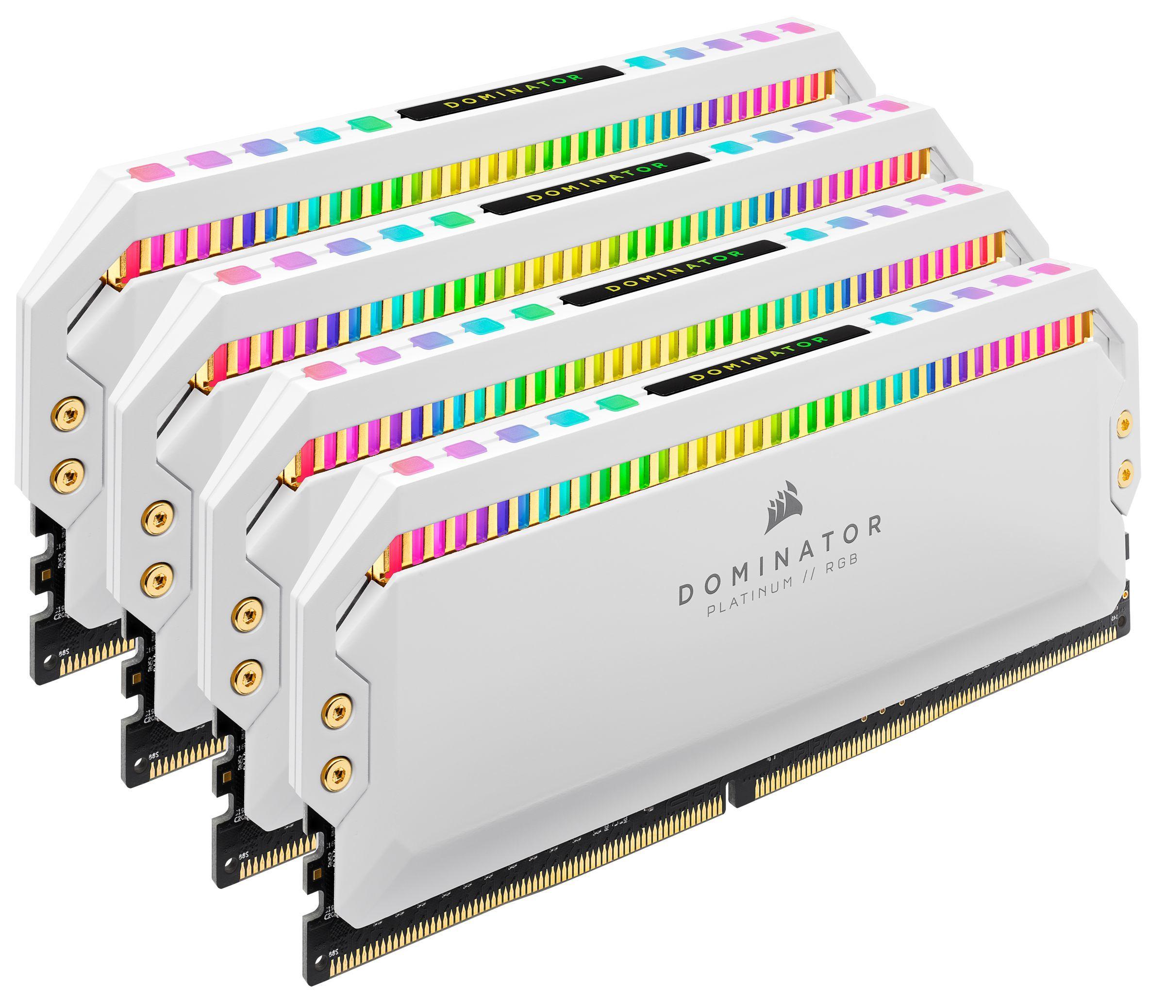 Dominator Platinum - 4 x 8 Go - DDR4 3200 MHz - RGB - Blanc