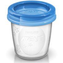 Philips - 5 pots de conservation du lait maternel - Avent