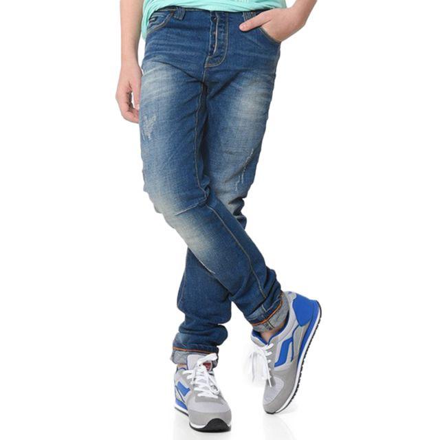 kaporal 5 kaporal dune jeans garcon taille 12 ans bleu pas cher achat vente jean. Black Bedroom Furniture Sets. Home Design Ideas