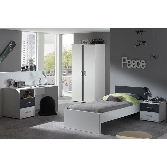 COMFORIUM - Ensemble 4 pièces pour chambre moderne avec lit 90x200cm ...