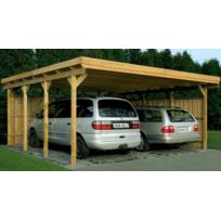 Lekingstore - Carport Bois Lausitz1 Epaisseur Poteaux 9 cm