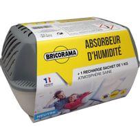 Bricorama - Absorbeur d'humidité large + 1 recharge sachet de 1 kg neutre 100382014