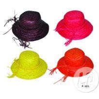 b4d069ba724 Lot de 6 - Chapeau de paille pour femme orange - Qualité. COOLMINIPRIX ...