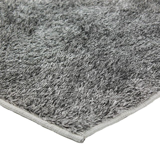 mon beau tapis tapis briliant tapis shaggy 120x170cm gris pas cher achat vente tapis. Black Bedroom Furniture Sets. Home Design Ideas