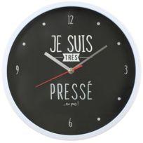DITES LE AVEC LES MOTS - Horloge moderne 30 cm Je suis