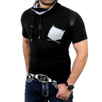 Rerock - Tee shirt mode homme T-shirt Rr108 noir