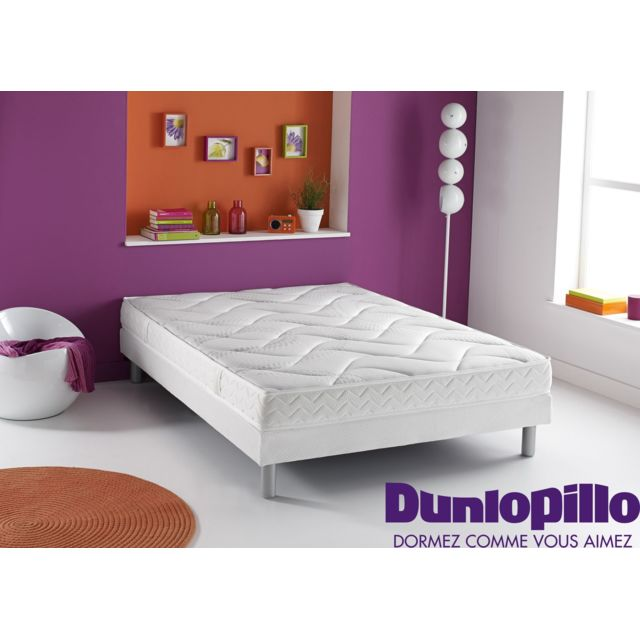 dunlopillo matelas en mousse et en latex reve 90x190 achat vente matelas latex pas chers. Black Bedroom Furniture Sets. Home Design Ideas