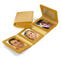Volumica - Album Photos zig-zag cuir Gold Beaubourg