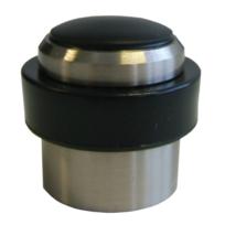 DESIGN-MAT - Butoir de porte en aluminium creux finition inox brossé DMBT2SP