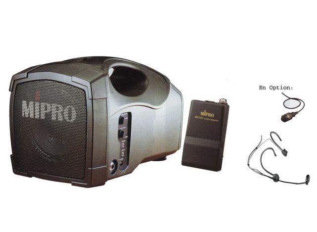 Mipro Ma 101 Mt. Sono portable sur batterie