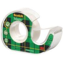 Scotch - 8-1975D - Magic 810 - Ruban adhésif invisible sur dévidoir plastique - 19mm x 7,5m